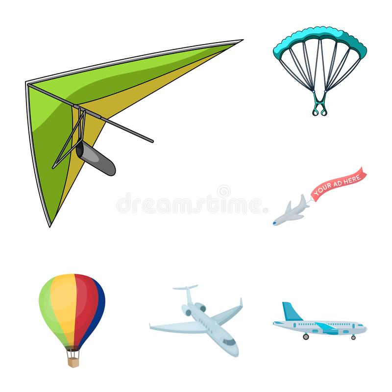 Isolerat objekt av transport- och objekttecknet Samling av transport och att glida vektorsymbolen för materiel stock illustrationer