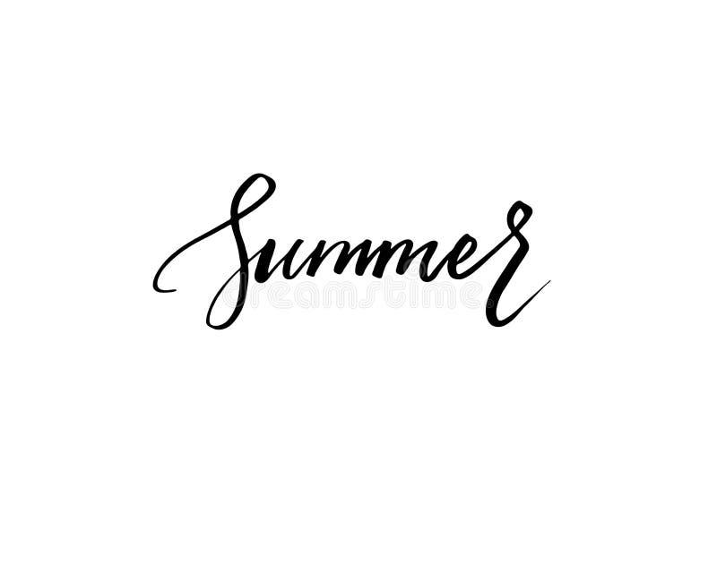 Isolerat ord för sommar bokstäver på den vita vektorn royaltyfri illustrationer