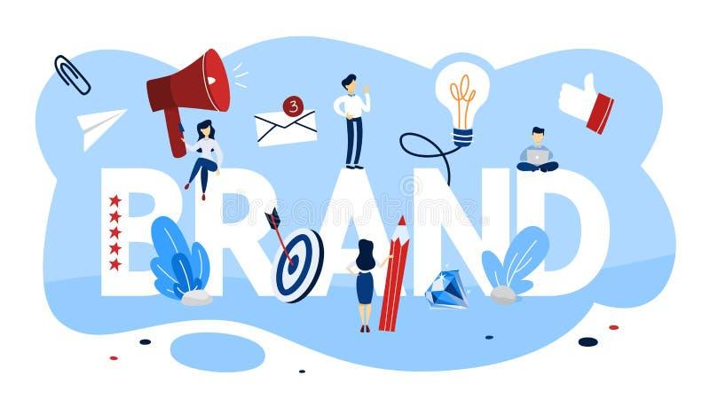 Isolerat på framförd white Unik design av ett företag vektor illustrationer