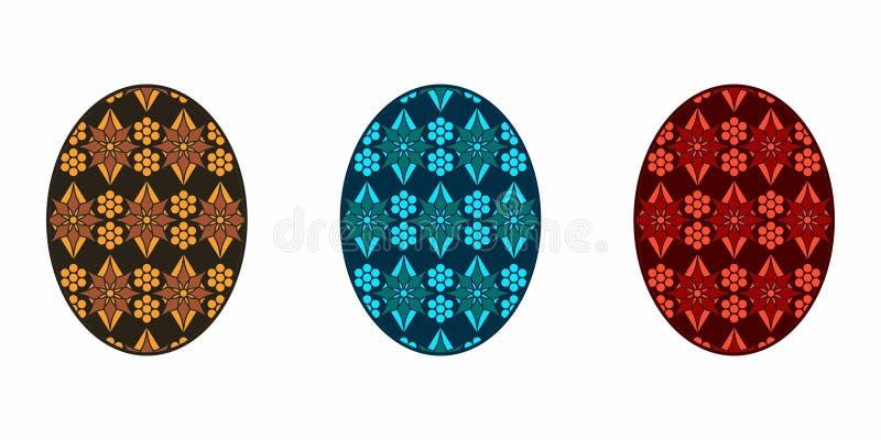 Isolerat påskägg som är färgrikt vektor illustrationer