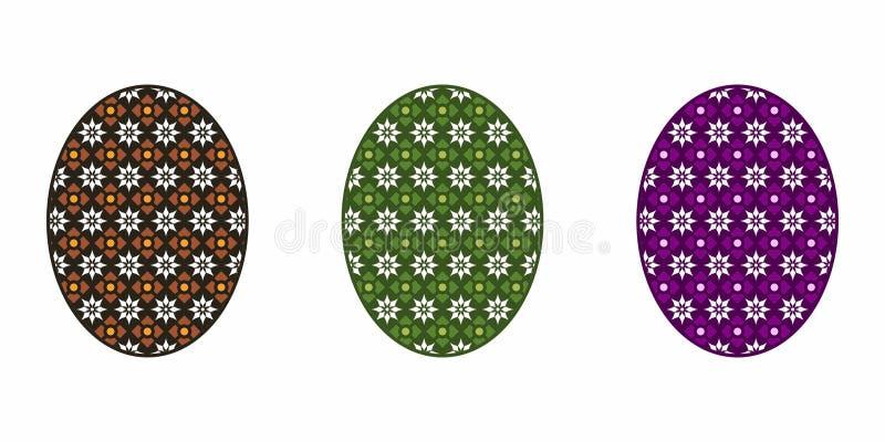 Isolerat påskägg som är färgrikt royaltyfri illustrationer