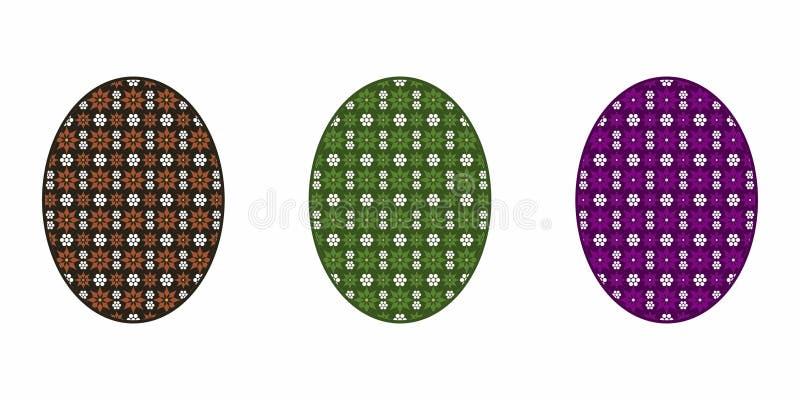 Isolerat påskägg som är färgrikt stock illustrationer