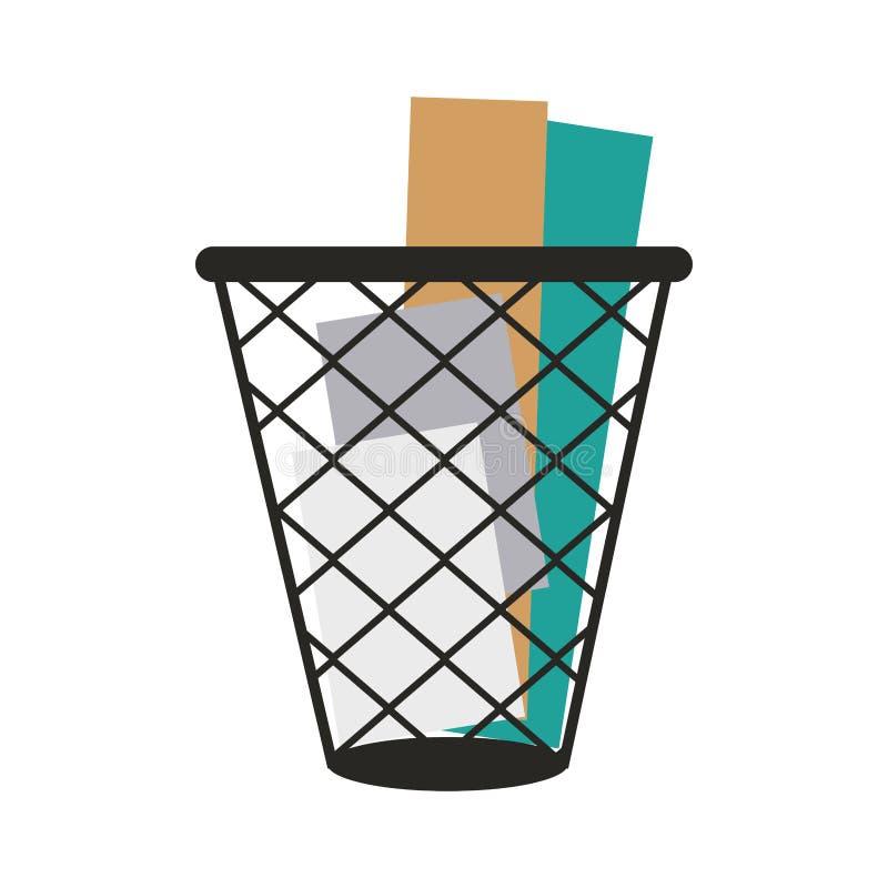 Isolerat pappers- fack stock illustrationer