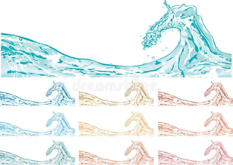 isolerat plaska vektorvatten stock illustrationer