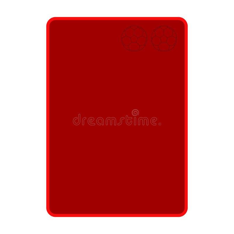 Isolerat rött kort för fotboll vektor illustrationer