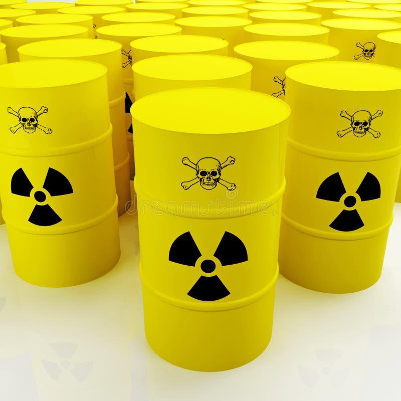isolerat radioaktivt royaltyfri illustrationer