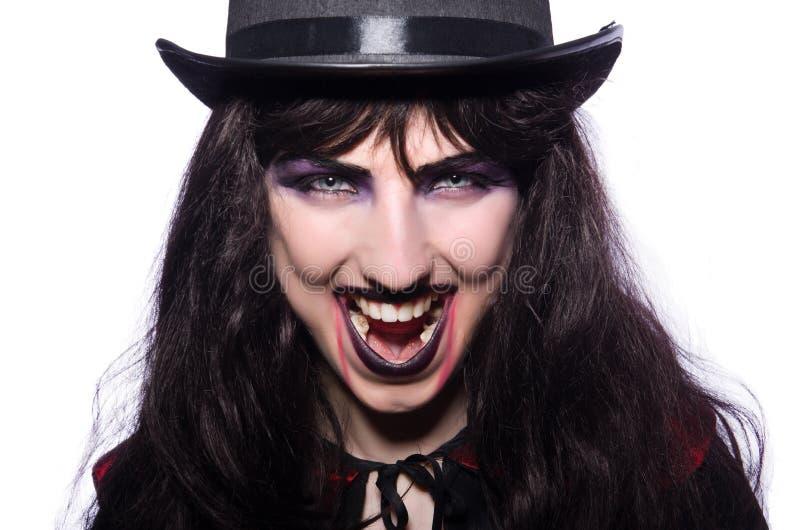 Isolerat Satanhalloween begrepp fotografering för bildbyråer
