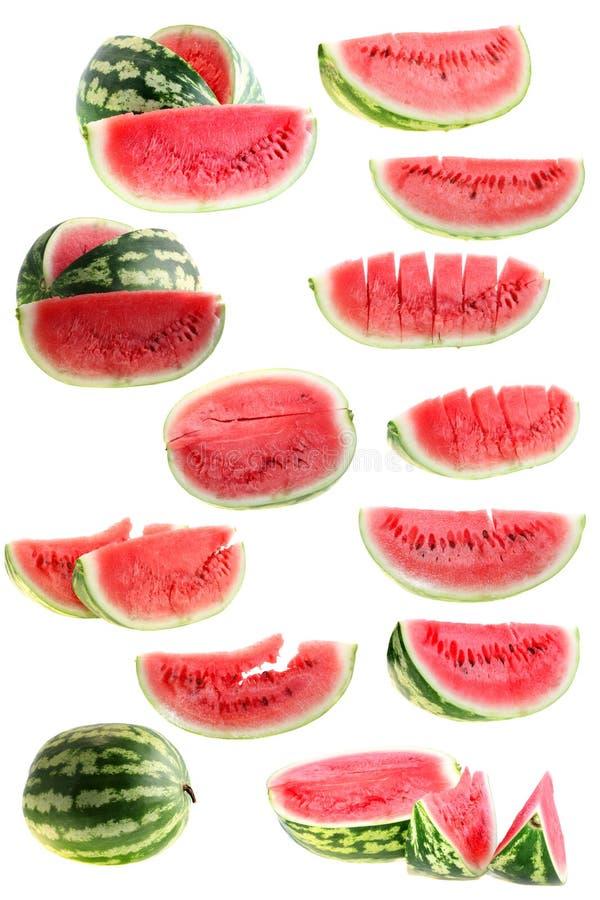 isolerat set vatten för melon royaltyfri bild