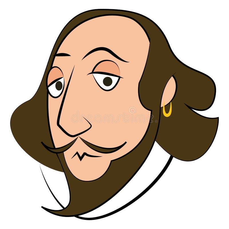 Isolerat Shakespeare tecken vektor illustrationer