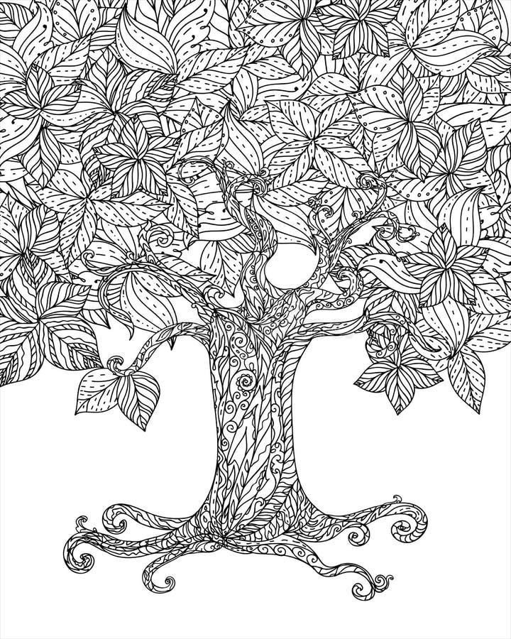 Isolerat skogträd stock illustrationer