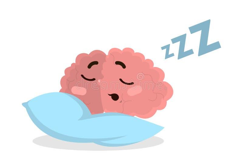 Isolerat sova hjärnan vektor illustrationer