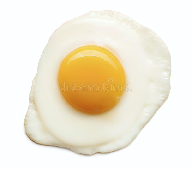 Isolerat stekt ägg arkivbilder
