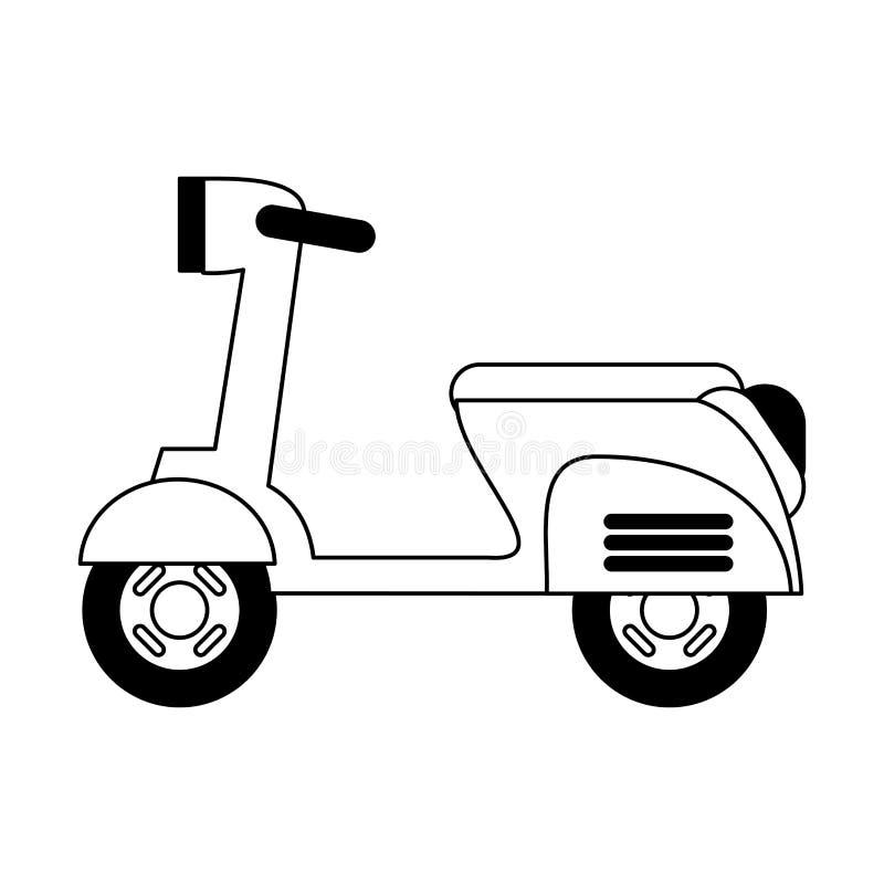 Isolerat svartvitt f?r motorcykel medel stock illustrationer
