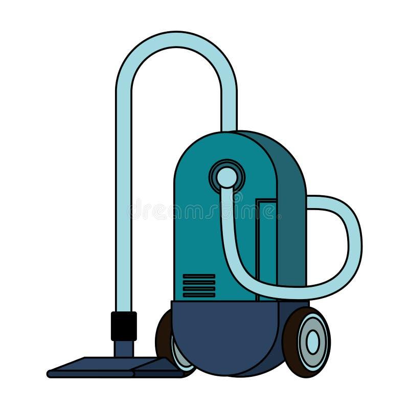 Isolerat symbol för dammsugare utrustning royaltyfri illustrationer