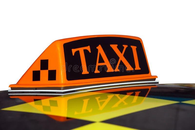 Isolerat taxitecken arkivbilder