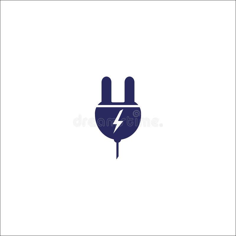 Isolerat teckensymbol för propp symbol plant stock illustrationer