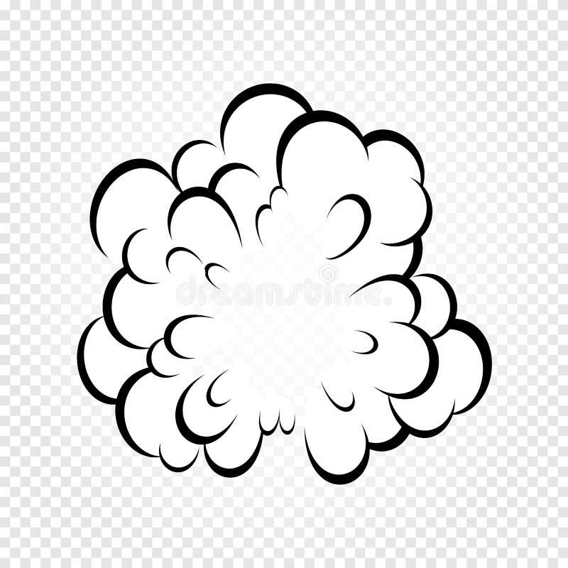 Isolerat tecknad filmanförande bubblar, ramar av rök, eller ånga, komiker för dialog molnet, vektorillustration på vit royaltyfri illustrationer
