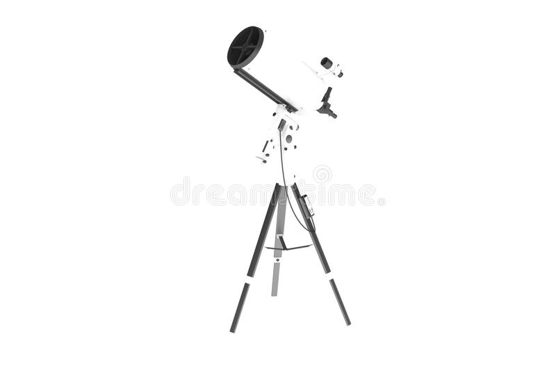 isolerat teleskop royaltyfri foto