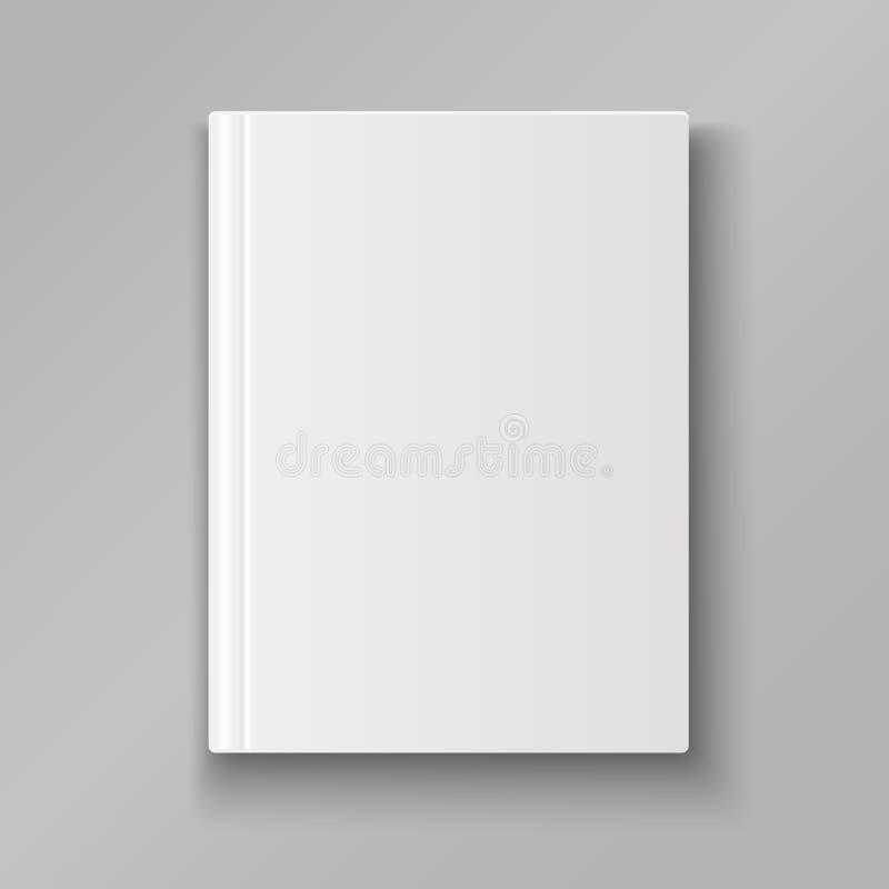 Isolerat tomt bokomslag med skugga royaltyfri illustrationer