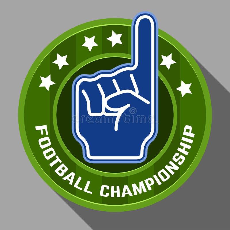 Isolerat tomt emblem för fotboll stock illustrationer