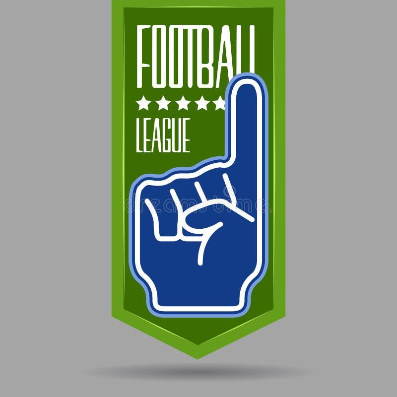 Isolerat tomt emblem för fotboll vektor illustrationer