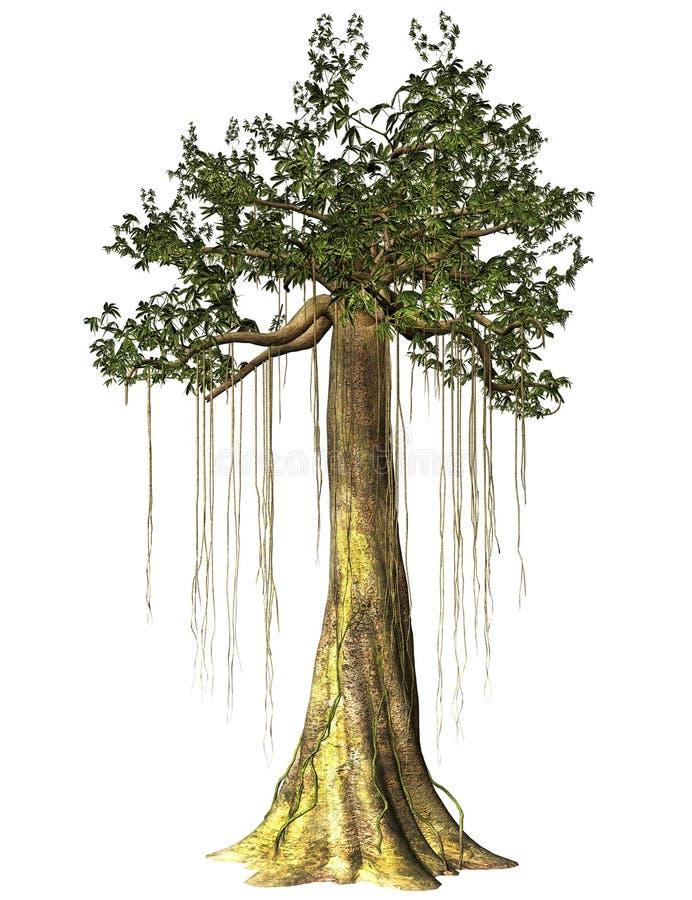 Isolerat träskträd vektor illustrationer