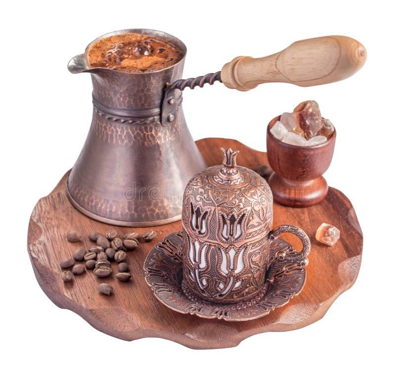 Isolerat turkiskt kaffe arkivbilder