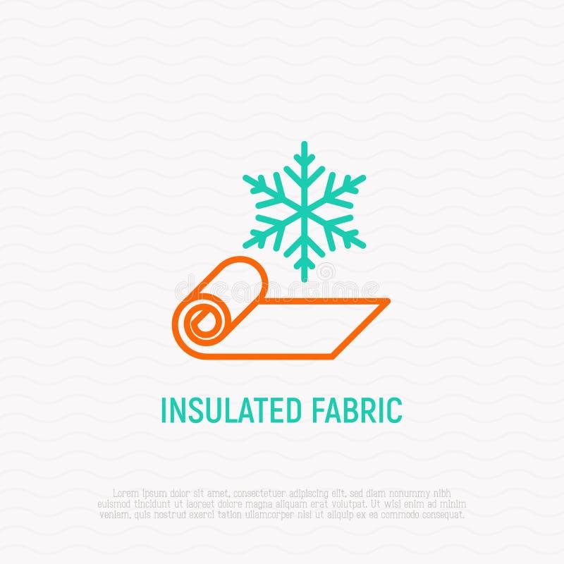 Isolerat tyg fodrar thin symbolen stock illustrationer