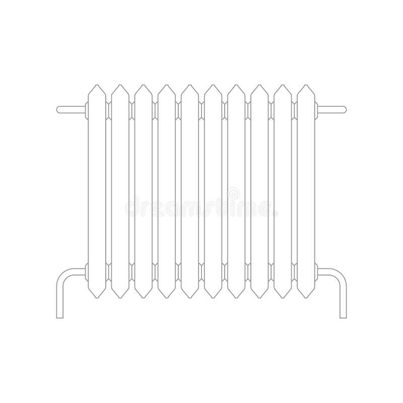 Isolerat uppvärmningelement system för metallelementuppvärmning vektor illustrationer