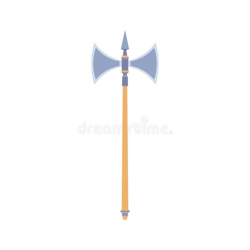 Isolerat vapen för yxavektorillustration symbol Wood handyxadesig royaltyfri illustrationer