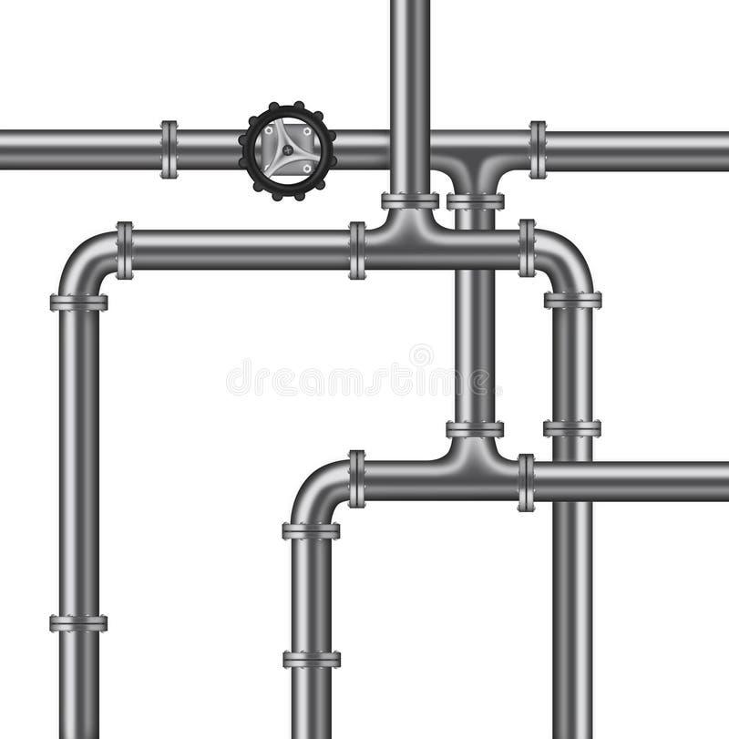 isolerat vatten för pipelinesrörmokeriventil royaltyfri illustrationer