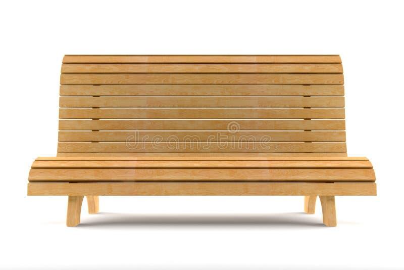 isolerat vitt trä för bakgrund bänk royaltyfri illustrationer
