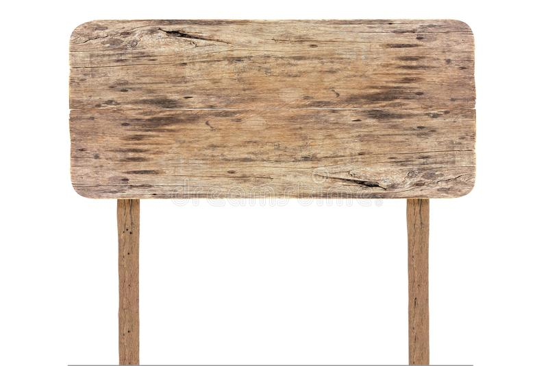 isolerat vitt tr? f?r tecken Rektangelisolerade tr?teckenbr?det Isolerad gammal tr?skylt fotografering för bildbyråer