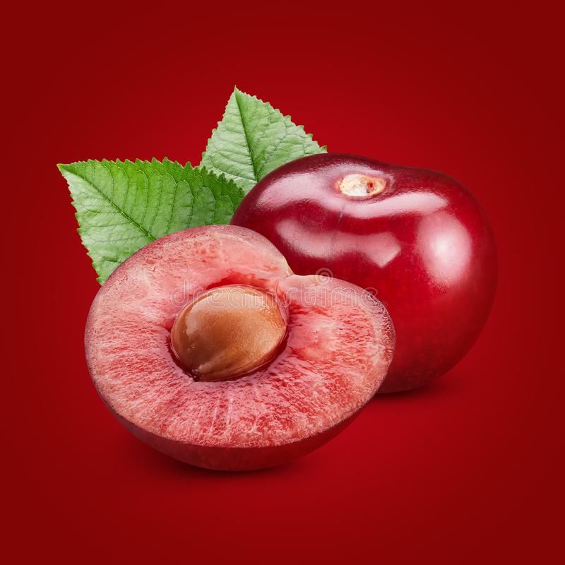 isoleringswhite för 100 Cherry arkivbilder