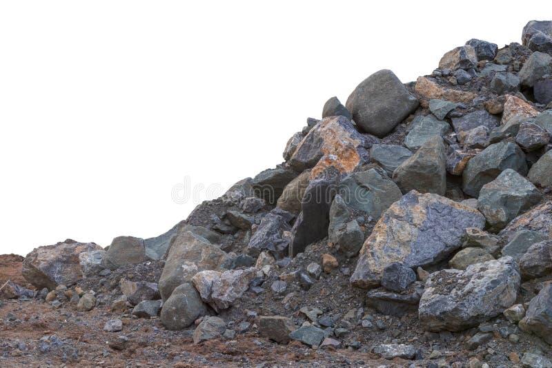 Isolez les petits et grands blocs de granit photographie stock