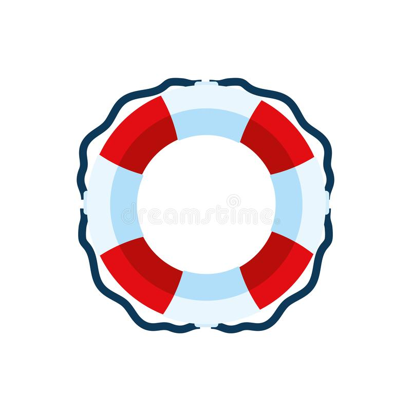 Isoliert sicheres Float Icon Vektordesign stock abbildung