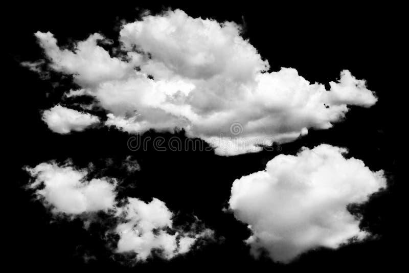 Isolierte Wolke über Schwarz stockbilder