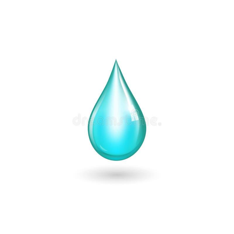 Isolted vattendroppe royaltyfri illustrationer