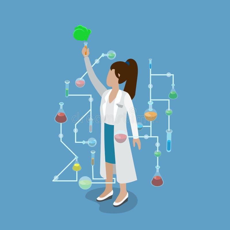 Isom liso químico da pesquisa da experiência do laboratório de ciência ilustração royalty free