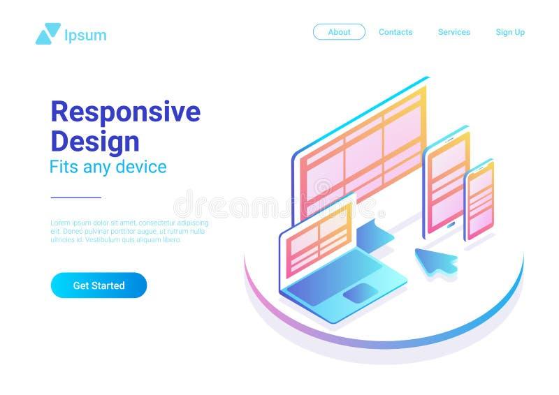 Isome svars- smartphone för designdatorbärbar dator royaltyfri illustrationer