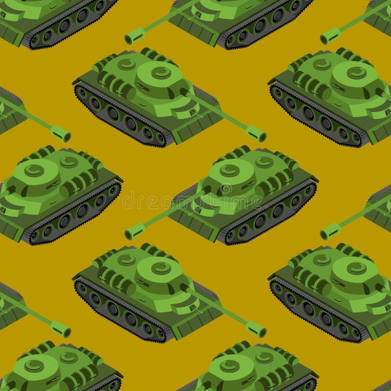 Isometric άνευ ραφής σχέδιο δεξαμενών Σύσταση μηχανημάτων στρατού μασχαλών ελεύθερη απεικόνιση δικαιώματος