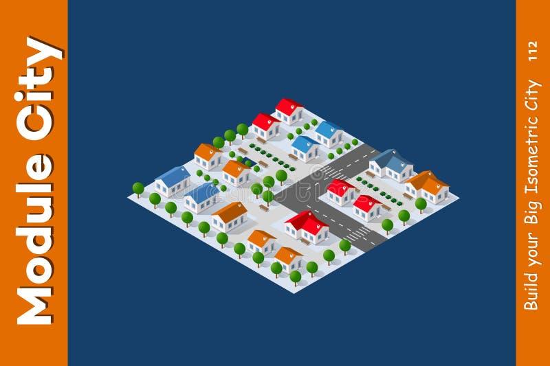 Isometric άποψη ενός αγροκτήματος ελεύθερη απεικόνιση δικαιώματος
