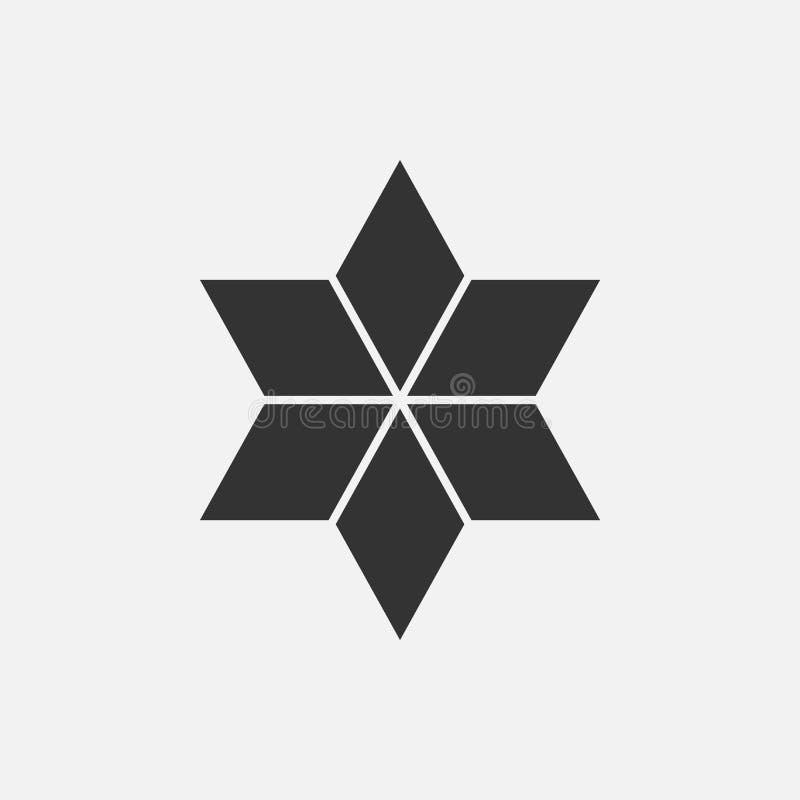 Isometric έννοια λογότυπων αστεριών, τρισδιάστατη διανυσματική απεικόνιση Επίπεδο ύφος σχεδίου Κατασκευή ρόμβων Σχέδιο σημαδιών σ ελεύθερη απεικόνιση δικαιώματος