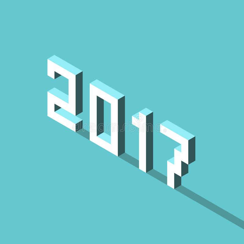 Isometric έτος του 2017 διανυσματική απεικόνιση