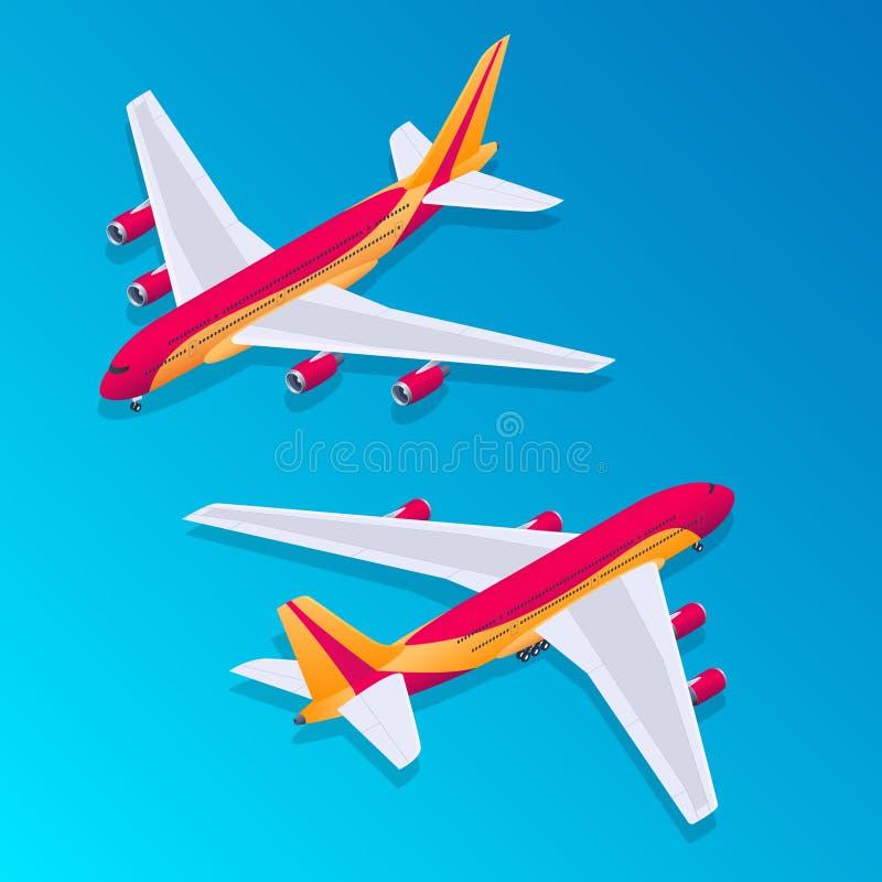 Isometric αεροπλάνο επιβατών διανυσματική απεικόνιση