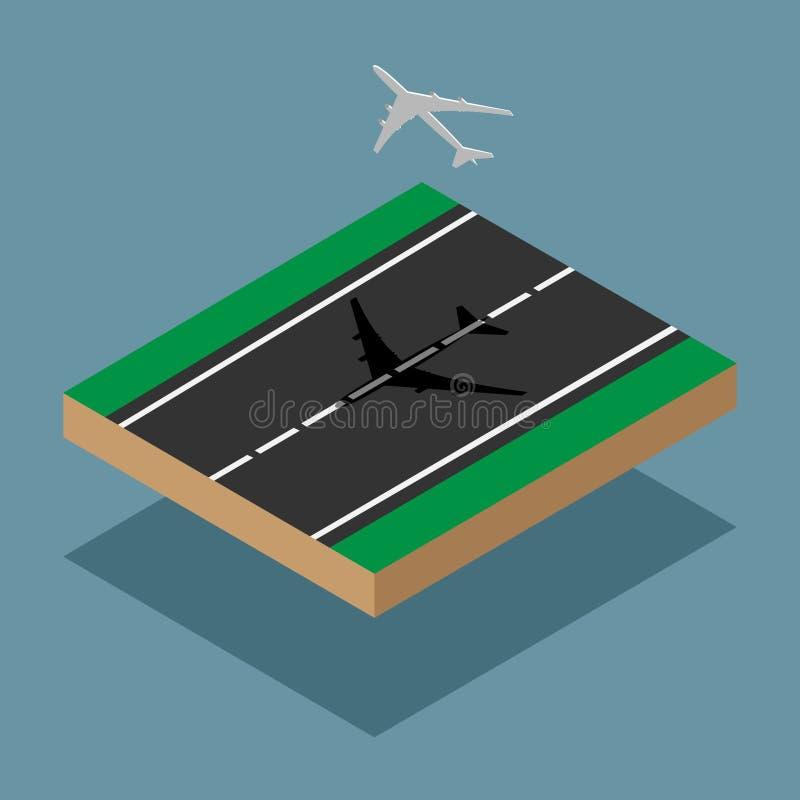 Isometric αεροπλάνο στοκ φωτογραφία