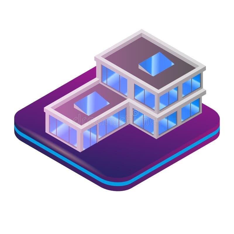 Isometric αυξημένη εικόνα πραγματικότητα για τον αρχιτέκτονα ελεύθερη απεικόνιση δικαιώματος