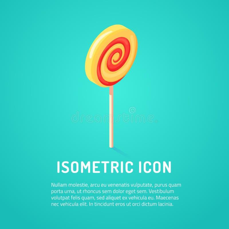 Isometric γλυκιά καραμέλα ελεύθερη απεικόνιση δικαιώματος