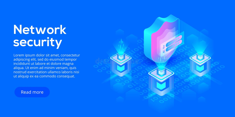 Isometric διανυσματική απεικόνιση ασφαλείας δεδομένων δικτύων Σε απευθείας σύνδεση serv διανυσματική απεικόνιση