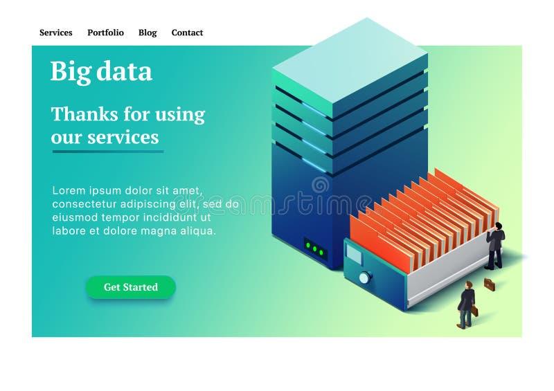 Isometric διανυσματική απεικόνιση Datacenter απεικόνιση αποθεμάτων